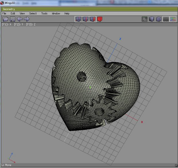 Heart Gears By Emmett Opened In Wings3d