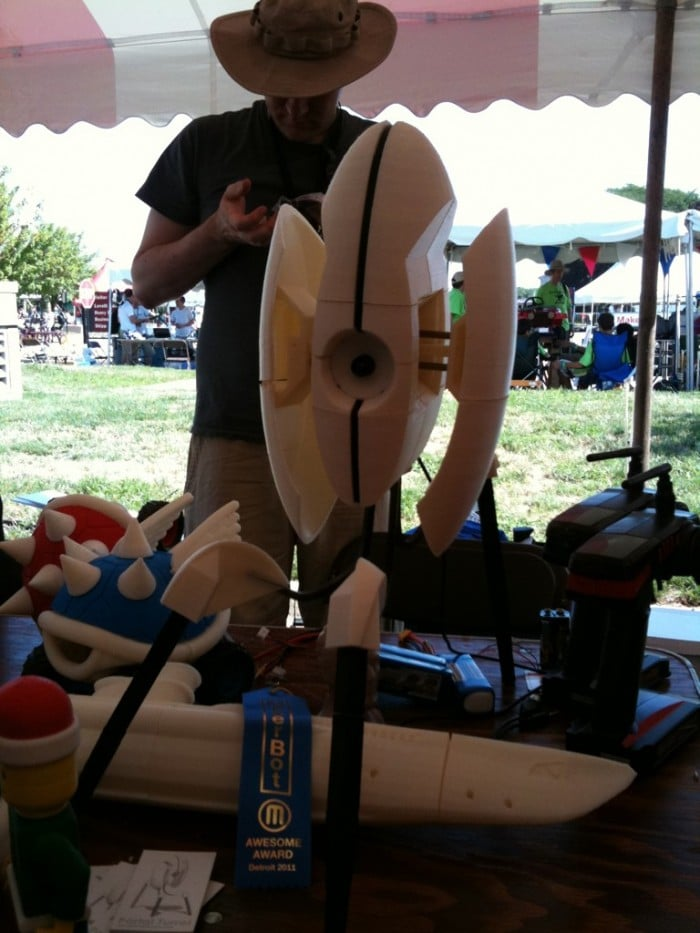 Michael Curry's display at Detroit Maker Faire 2011