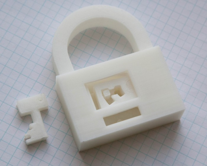 Fully printable padlock by ttsalo