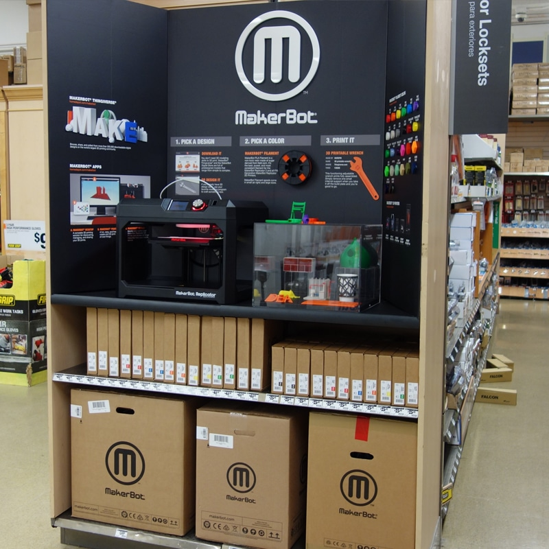 MakerBot Launches Pilot Offering At 12 Home Depot Locations