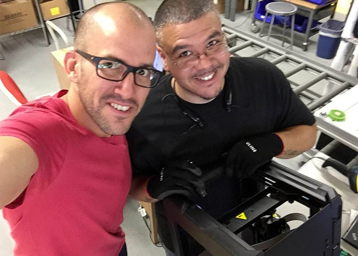 MakerBot CEO Jonathan Jaglom and productor Wilson Feliciano