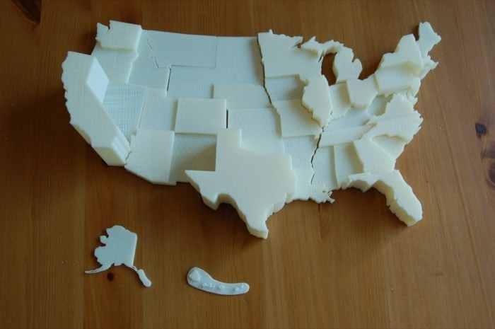 United States Electoral Vote Map By Thenewhobbyist Makerbot - Map-of-us-states-electoral-votes