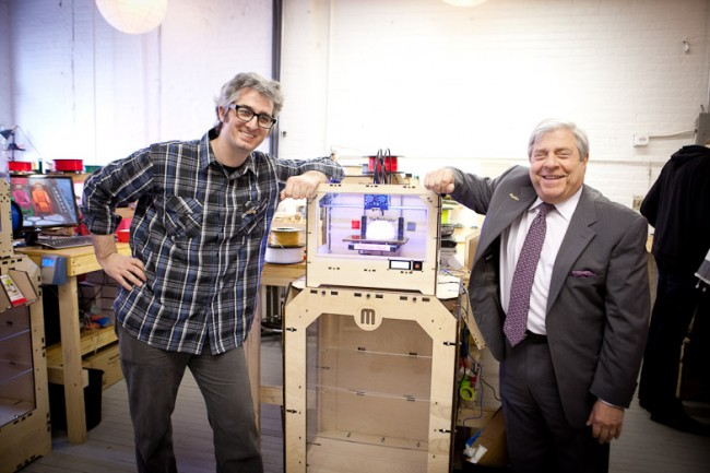 Brooklyn Borough President Marty Markowitz Visits MakerBot!