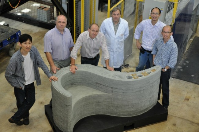 Impressive 3D-Printed Curved Concrete Shapes