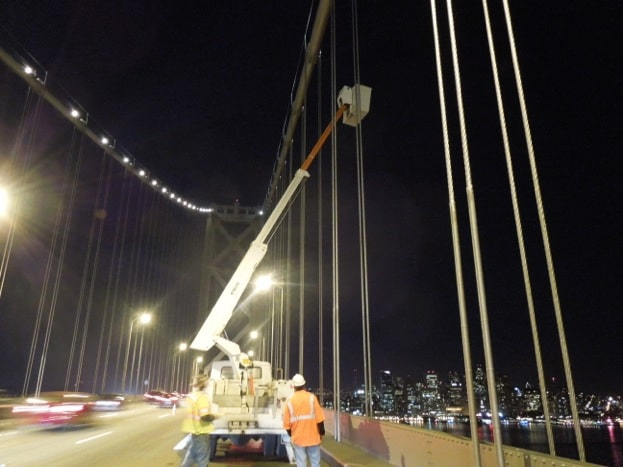 Makerbotted clips under test on San Francisco Bay Bridge!