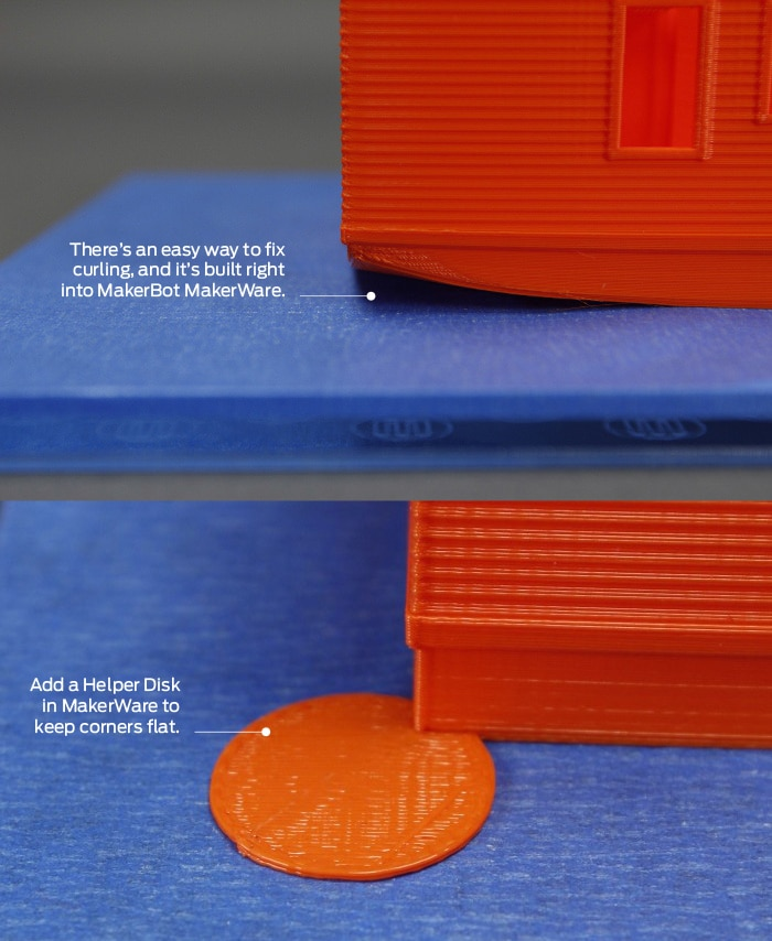 Keep Corners Flat With MakerWare's Helper Disks