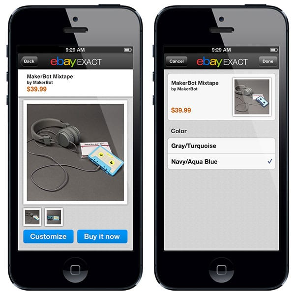 MakerBot + eBay | Joining eBay's New 3D Printing Marketplace Mobile