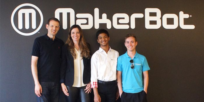 Winners of the Future Engineers' Star Trek™ Replicator Challenge Visit MakerBot