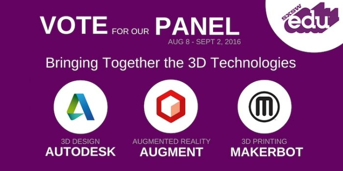 Vote MakerBot for SXSWedu 2017!